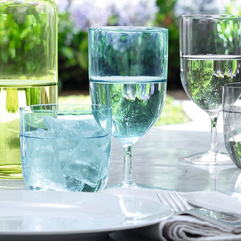 Lsa hint collection of glasses in aqua blue