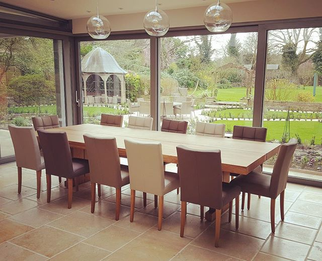 A Sopwell Oak table can be made to any size you request , this fine example of the Sopwell Oak Double table stands at over 3 meters in lengt