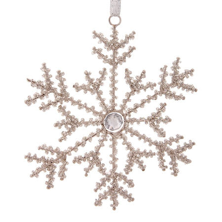 Beaded  hanging star xmas tree dec