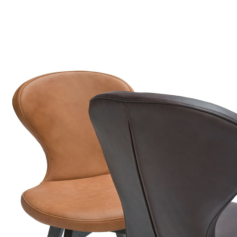 R1 round seat back detail, showing stitching and 'zip up back' detail