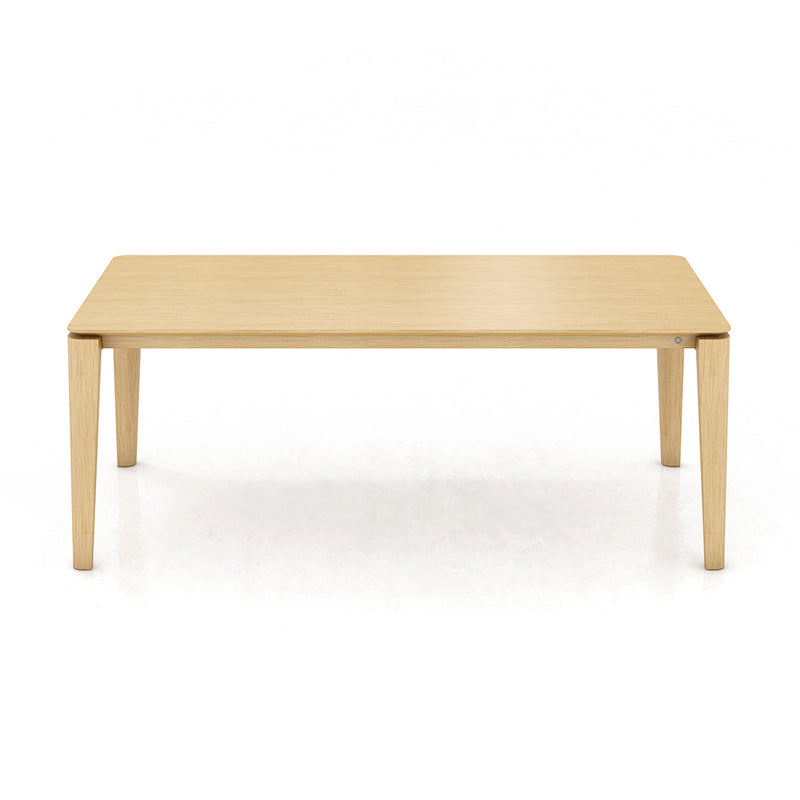 Rounded profile leg Dining Table with wood top