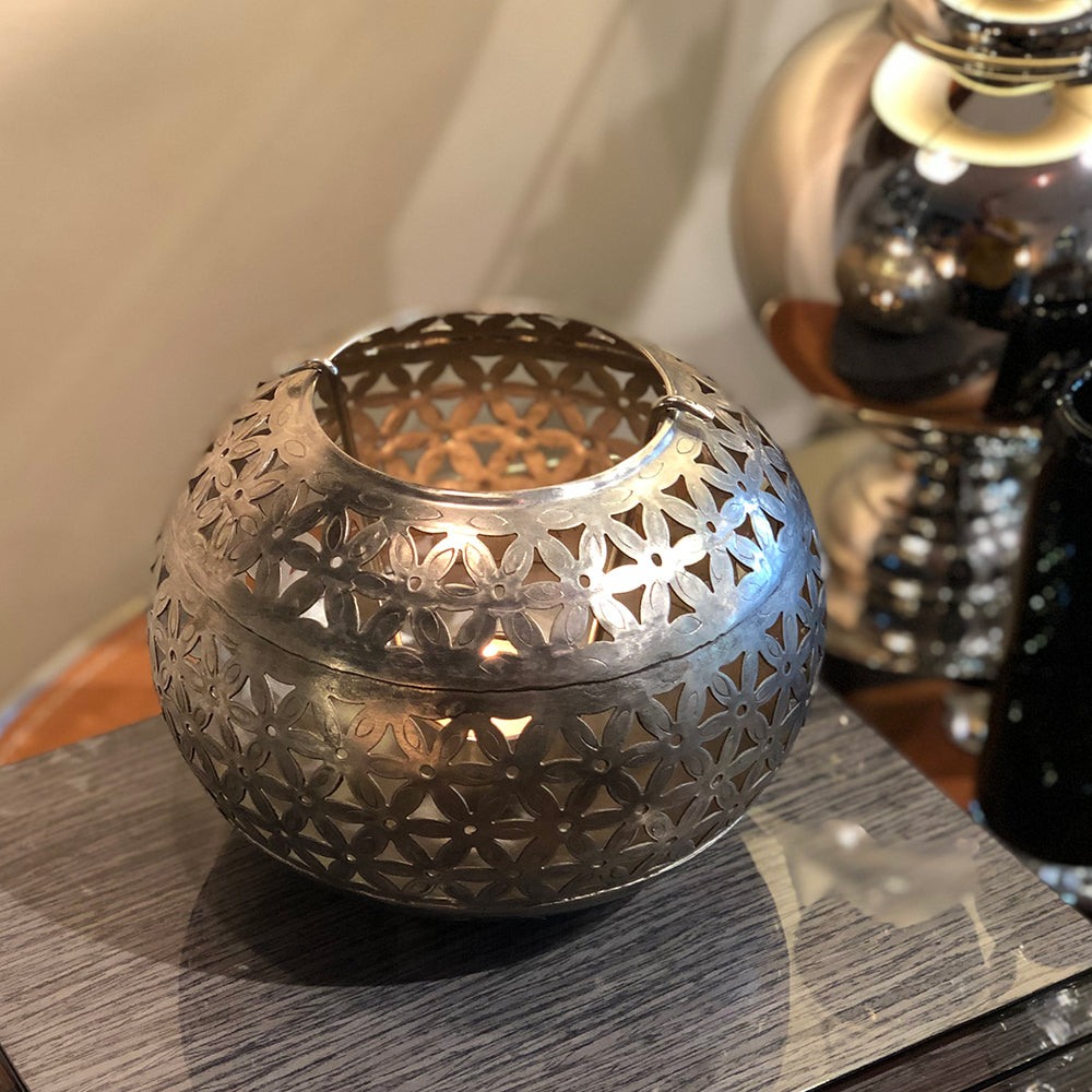 Iron Etched Tealight Ball