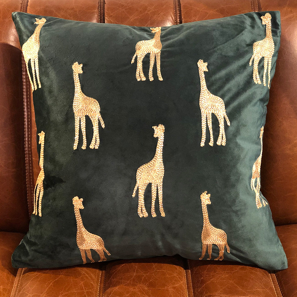 Giraffe Velvet Cushion
