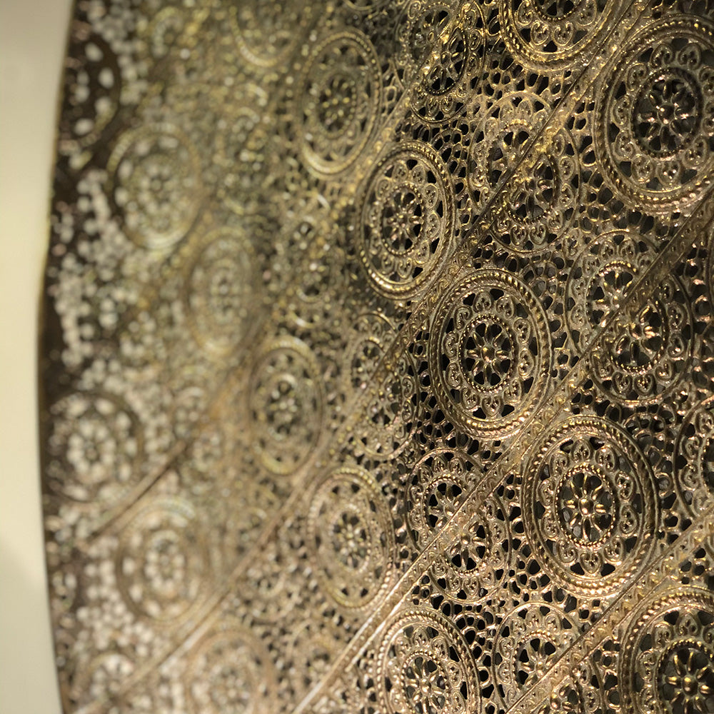 Filigree Gold Wall Disc