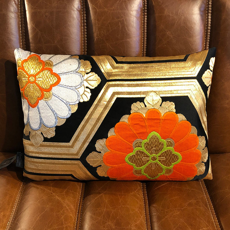 Golden Hexagon Vintage Obi Cushion