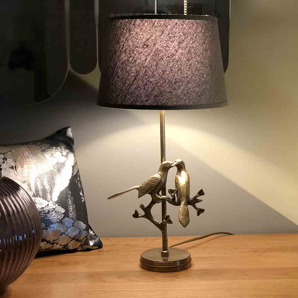 Golden Lovebirds Lamp