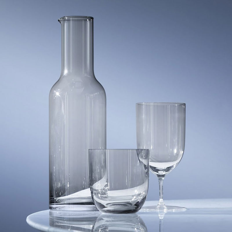 Hint collection of slate grey glass carafe tumbler and wine glass