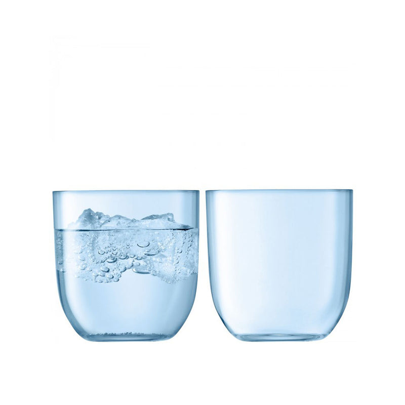 Hint water tumblers in Aqua, set of two