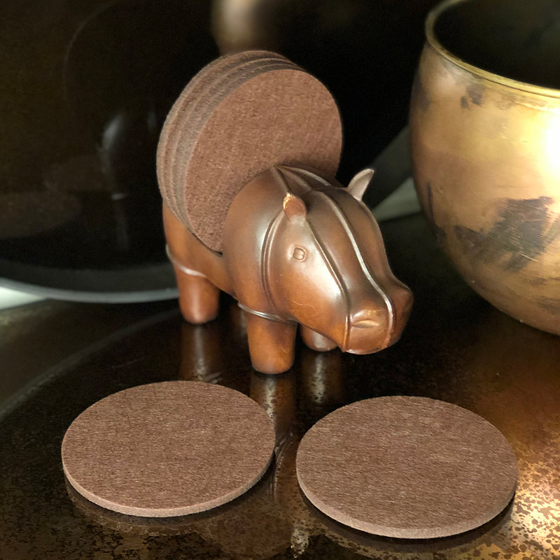 hippopotamus coaster holder