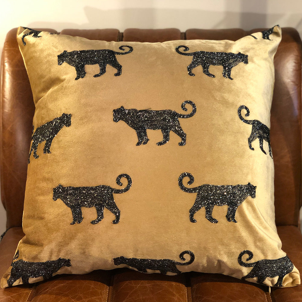 Leopard Velvet Cushion