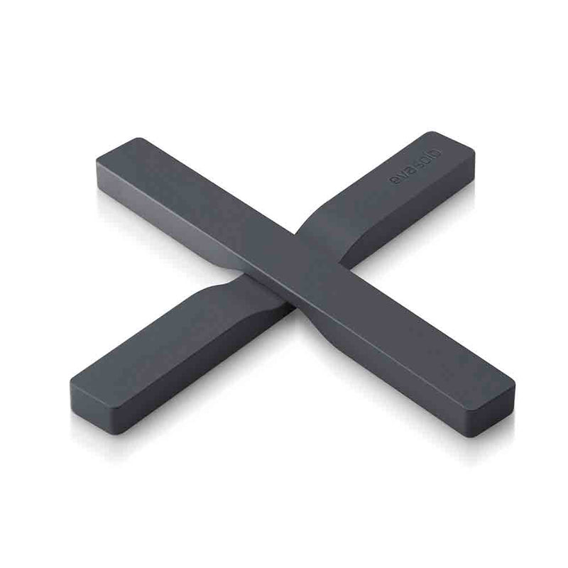 anthracite grey silicone bars , crossed for under a pan