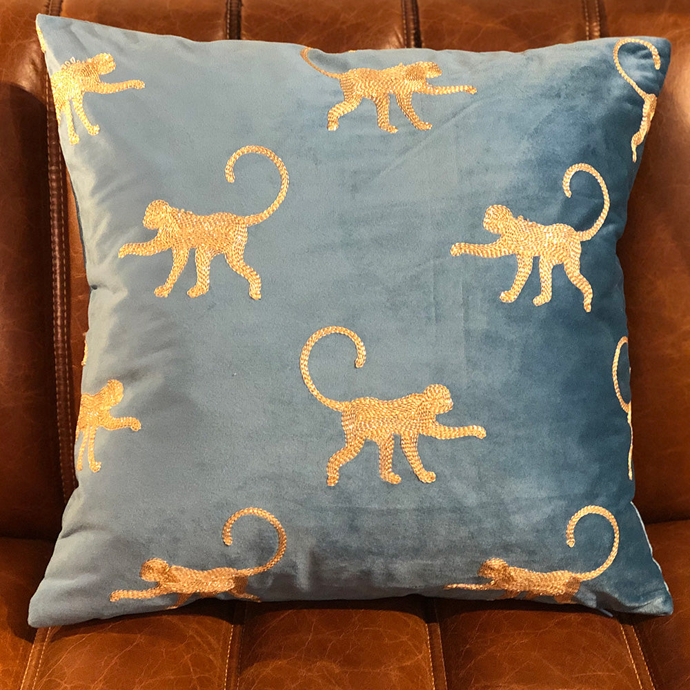 Monkey Velvet Cushion