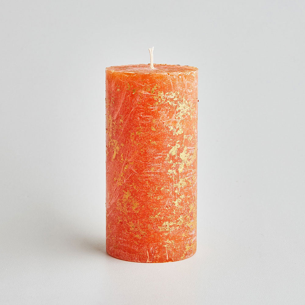 'Orange & Cinnamon' Marbled Candle