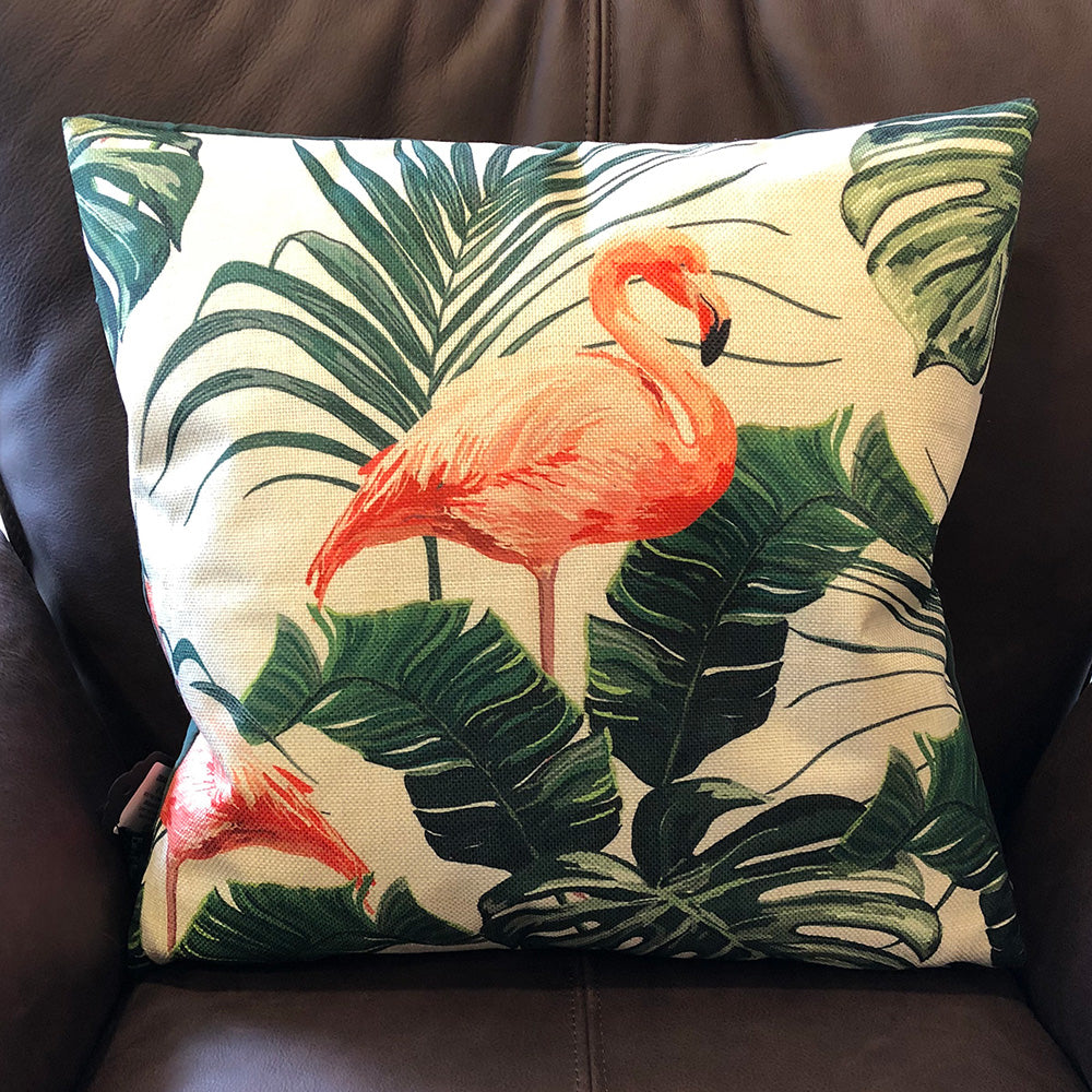 Orange Flamingo Cushion