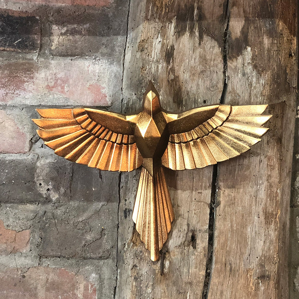 'Origami' Golden Bird