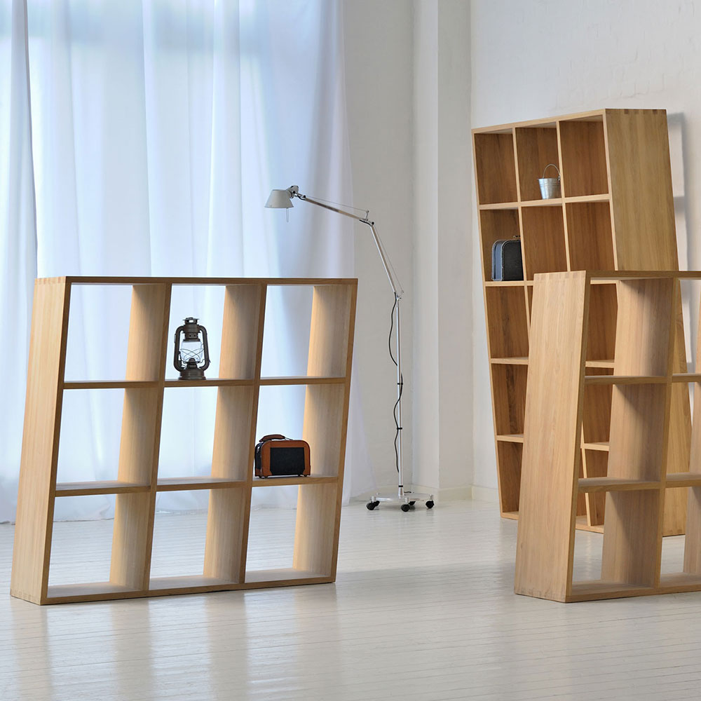 Piza Solid Wood Storage Rack 9