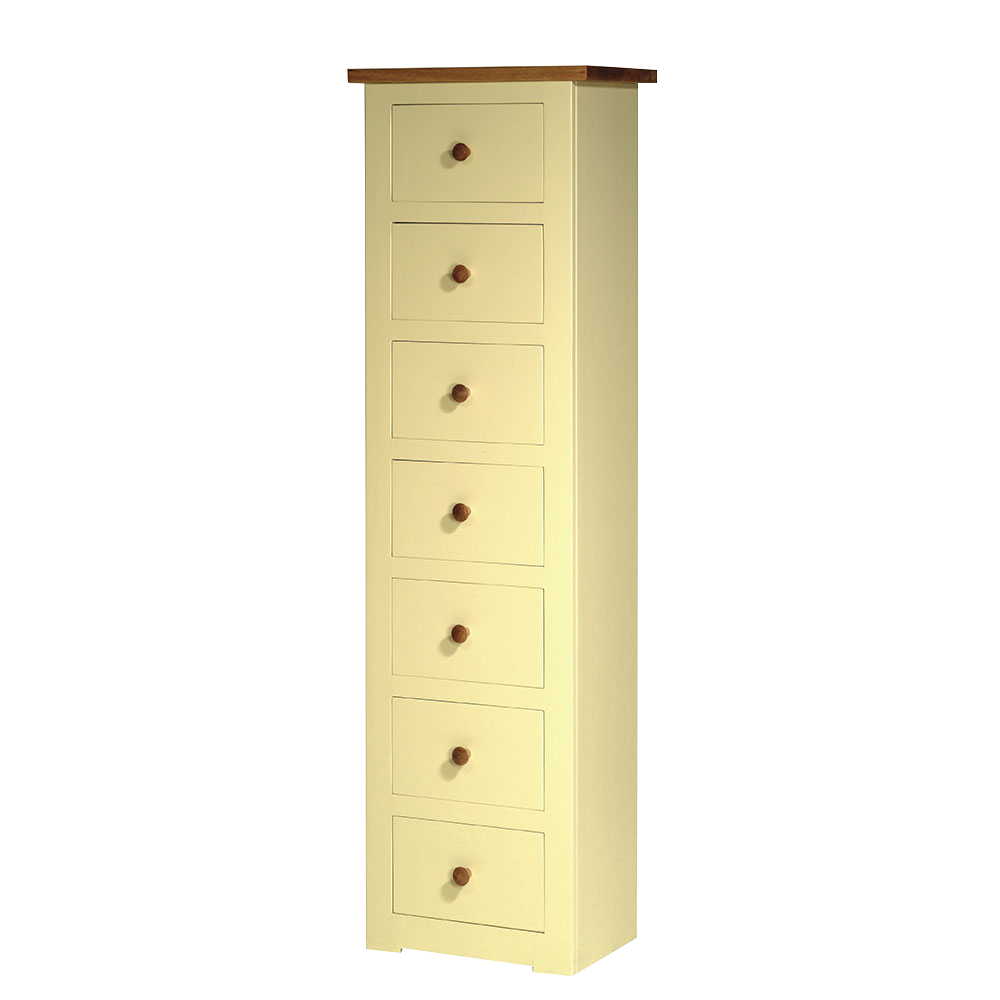 provence painted tall chest seven drawers high