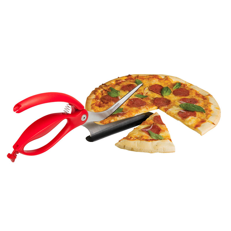 pizza scissors cutting a pizza
