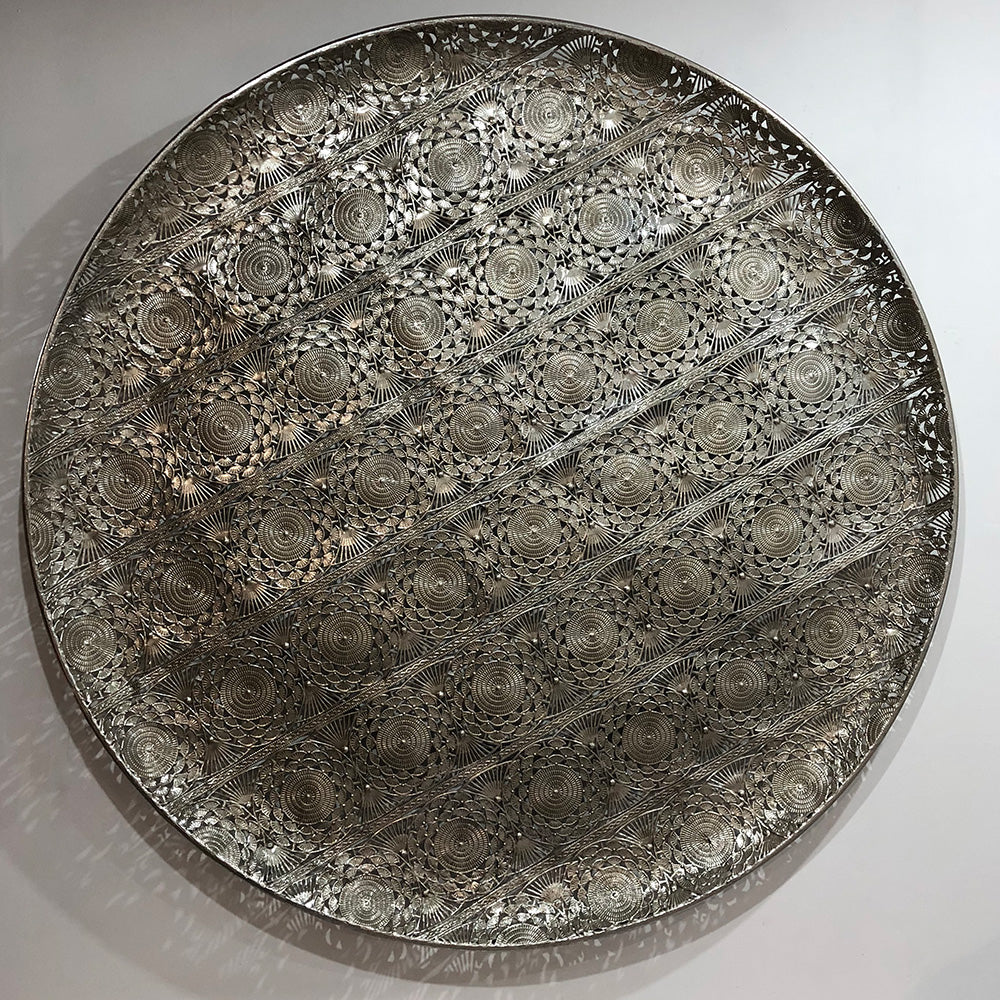 Filigree Silver Wall Disc