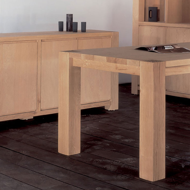 manor oak dining table with matching sideboard