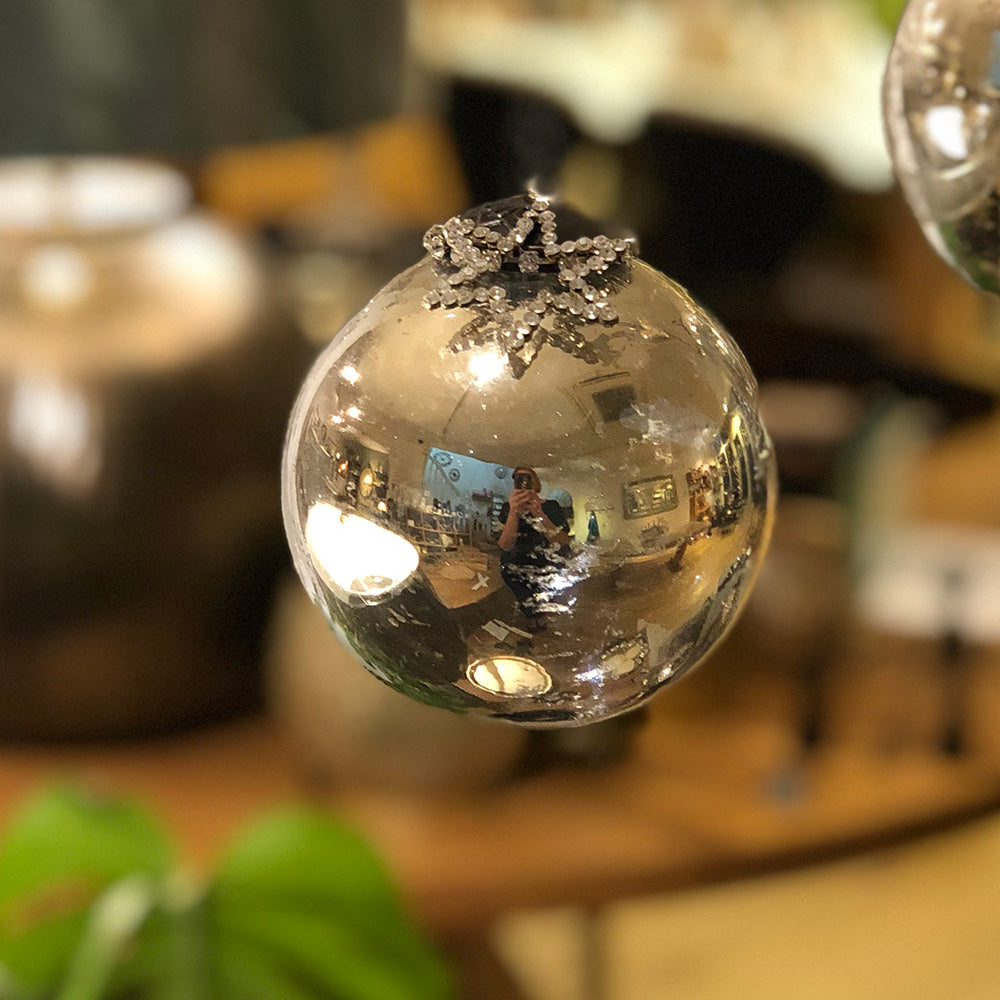 Mercury Glass Bauble Decoration