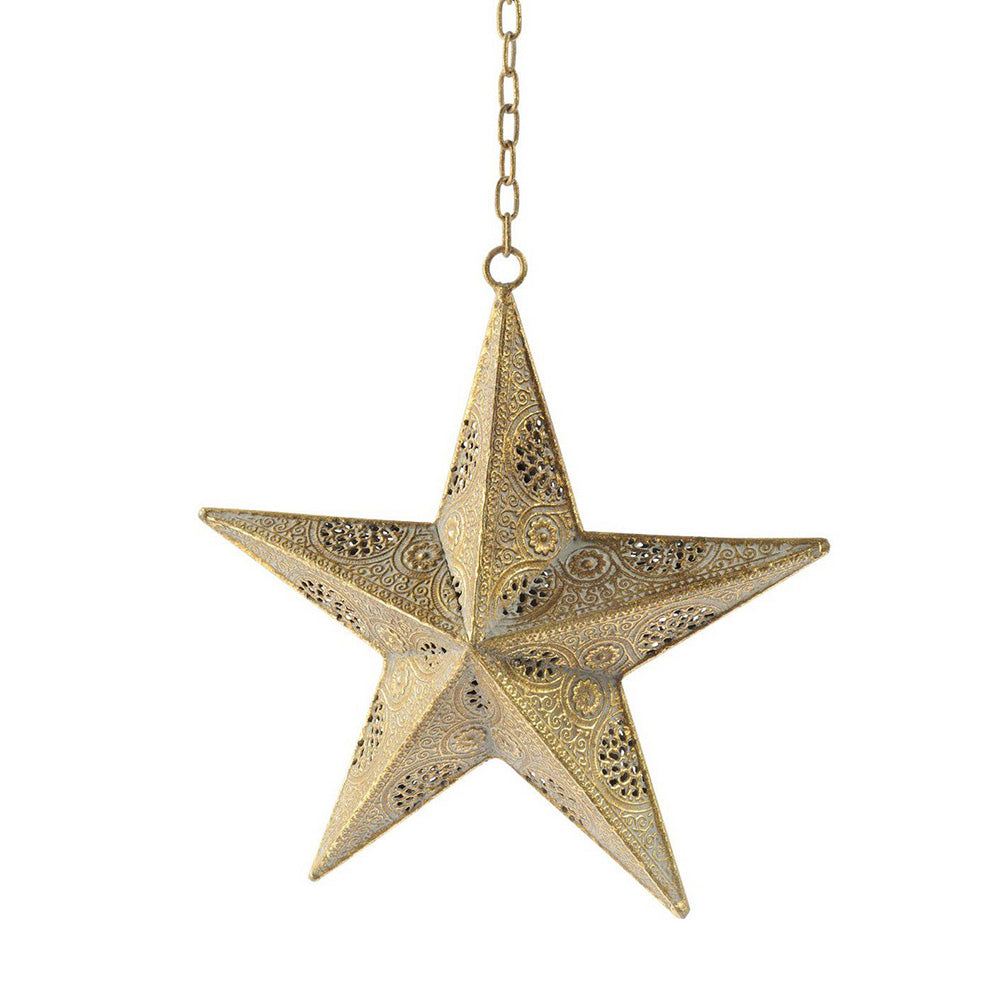 Filigree Gold Hanging Star