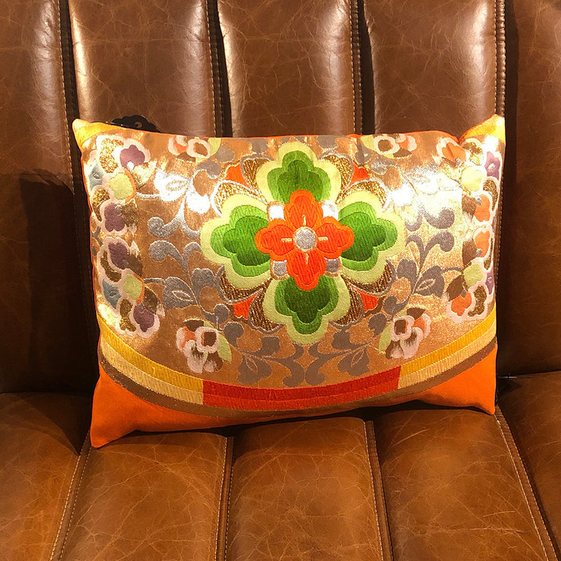 Traditional Flowers Vintage Obi Cushion