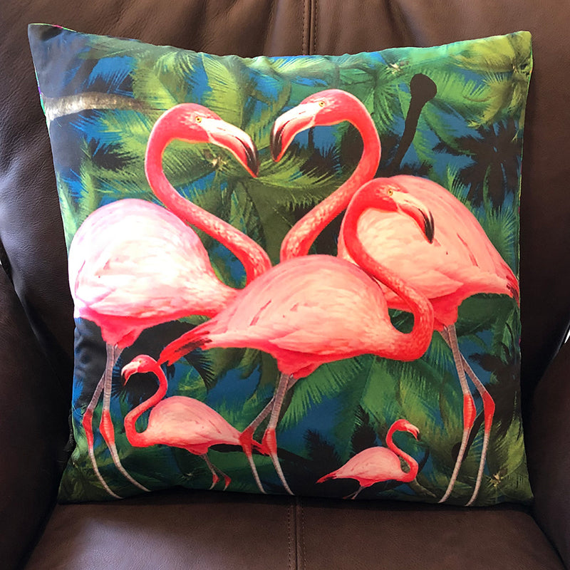 Tropical Flamingo Cushion