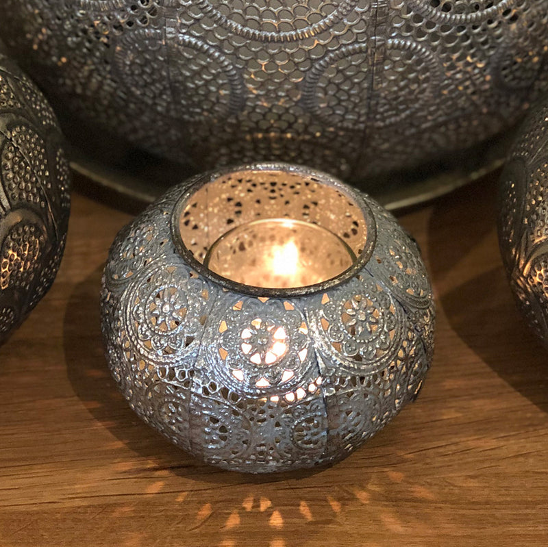 Verdigris Ball Tealight holder