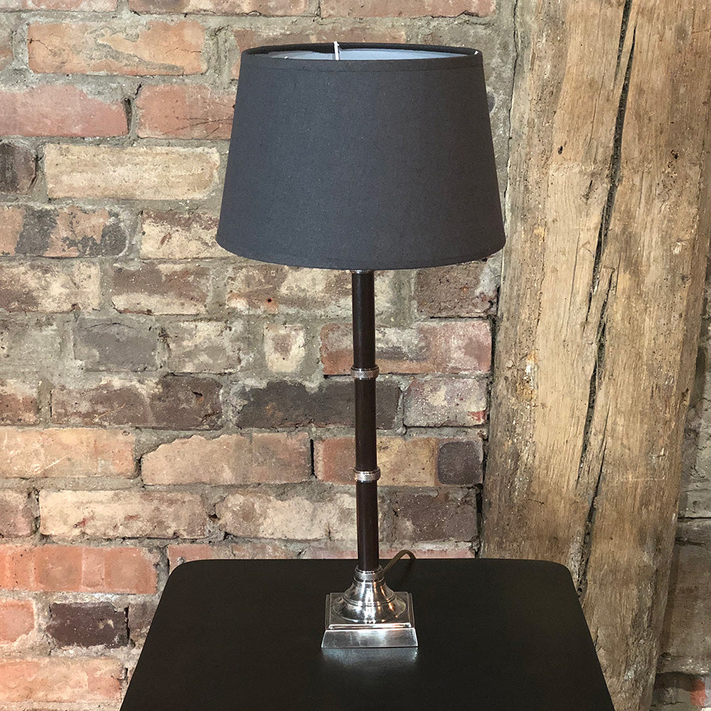 Nickel Band Lamp