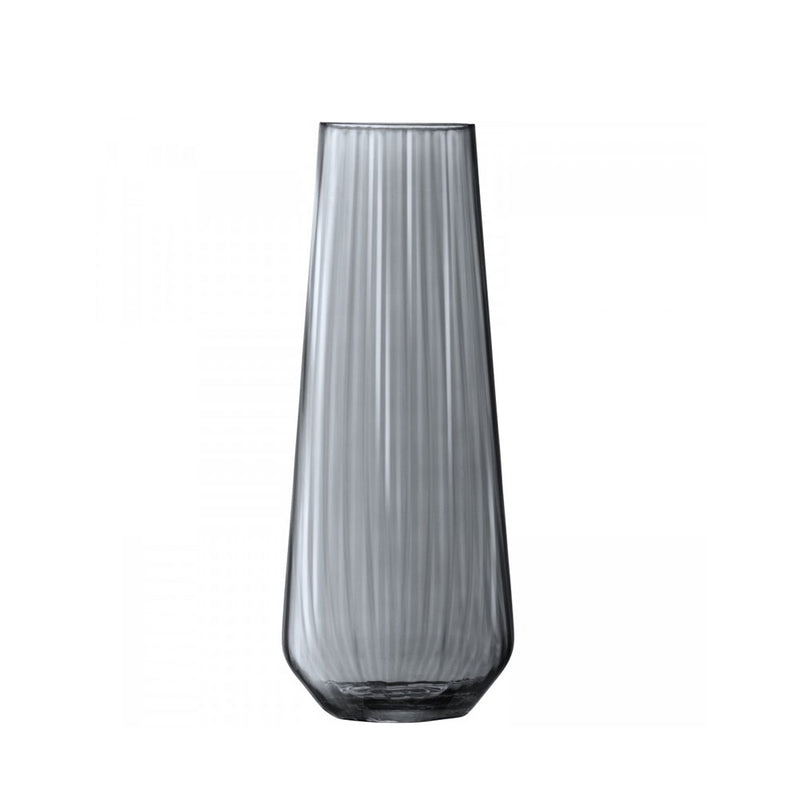zinc grey colour glass vase - empty