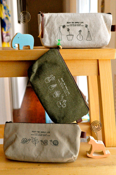 Enjoy the Simple Life Pencil Pouch/Make-up Pouch