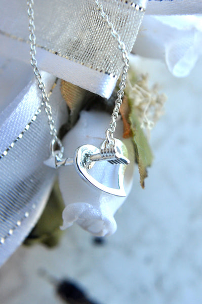 Straight Through the Heart Necklace