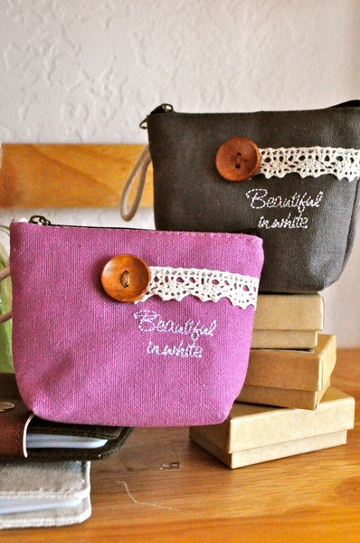 Beautiful in Color Button Coin Purses