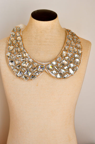 Runway Fashion Bib Necklace