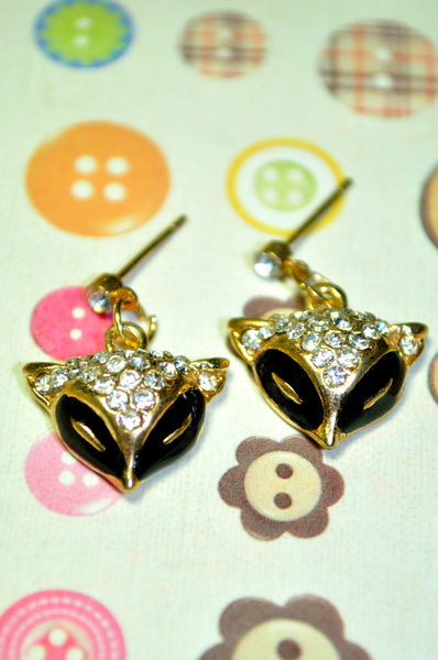 Black Fox Earring