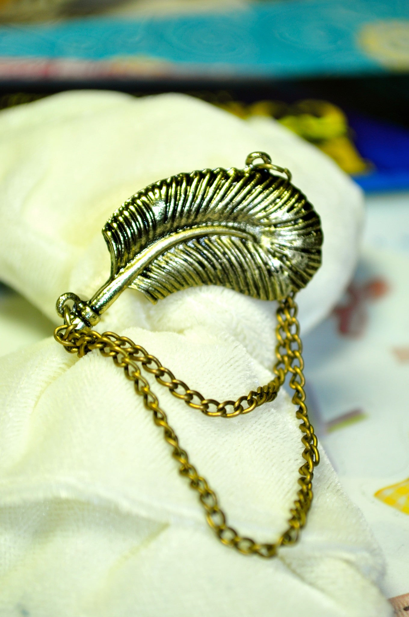 Dangly Feather Earring Cuff