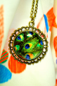 Peacock Plumage Necklace