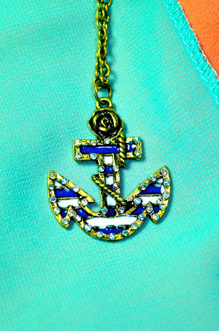 Ahoy the Anchor Necklace