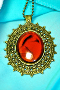 Ruby Mirror Necklace