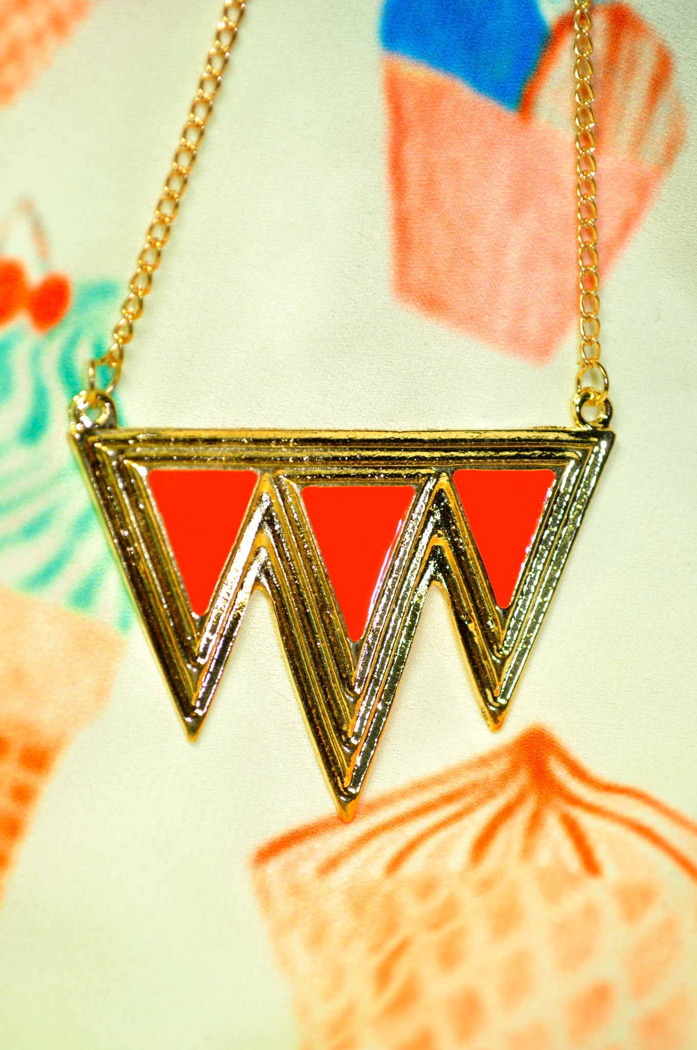 Inverted Aztec Necklace