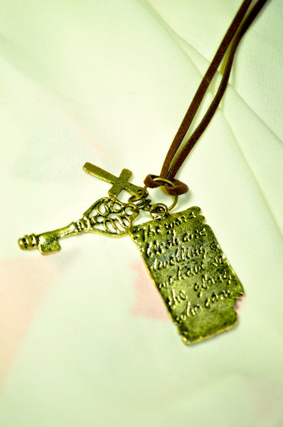 Keys to the Script Necklace