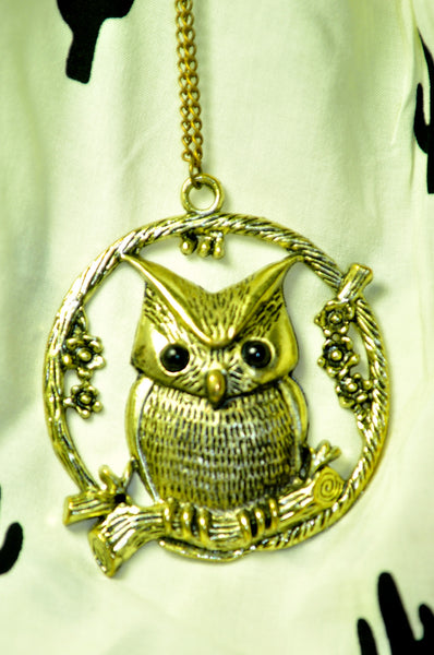 Tiny Owl Hoot Necklace