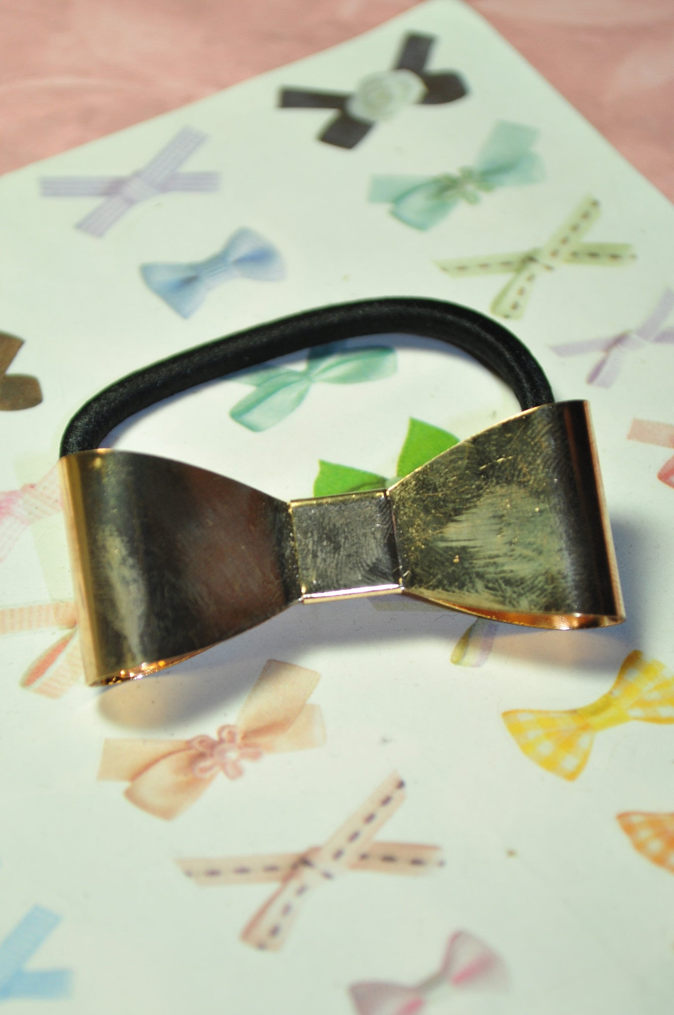 Metallic Bow Hair Tie