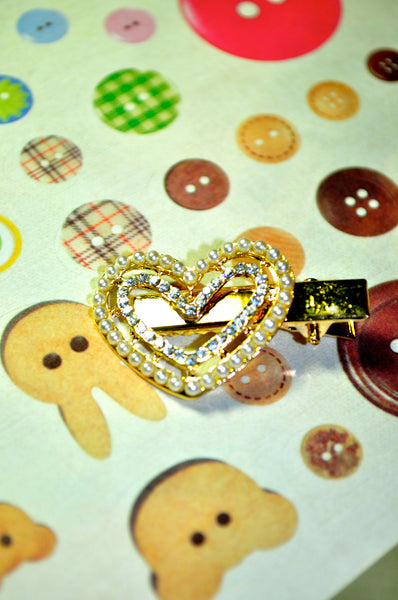 Mini Heart Hair Clip