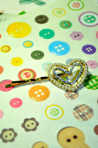 Duo Heart Bobby Pin