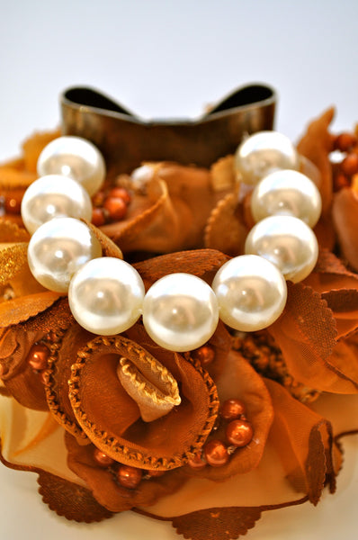 Ribbon and Pearls Bracelet