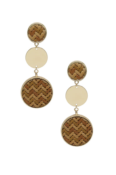 Boho Dreams Earring in Tan and Gold