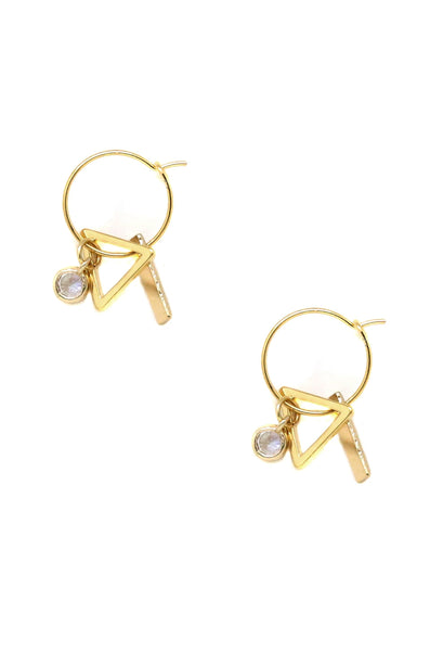 Simple Treasures Small Hoop Earring in Gold