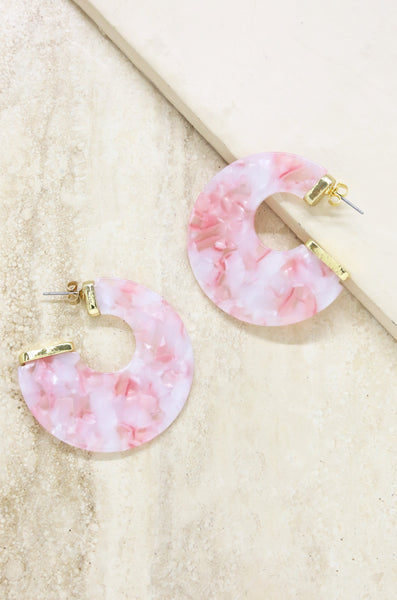 Rosarito Earrings in Pink and Gold